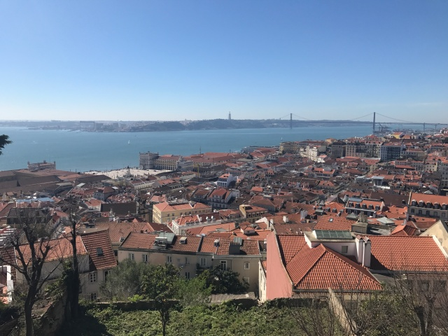 Lisbon view from the castle
